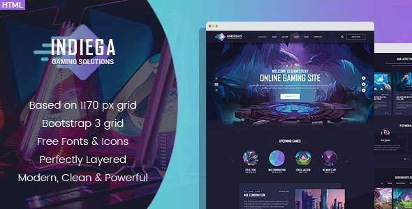 Indiega - Gaming HTML Template            TFx Niles Samuel