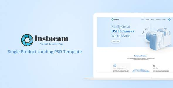 Instacam – Single Product Landing Page            TFx Jere Cody