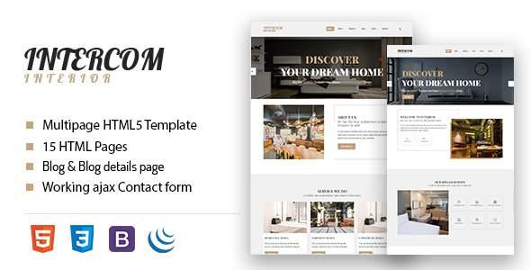 Intercom - Interior HTML Template            TFx Buck Ryuunosuke