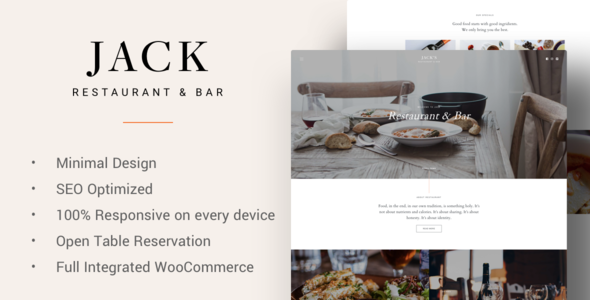 Jack - Restaurant WordPress Theme            TFx Vardan Devan