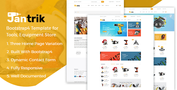 Jantrik - Bootstrap4 Template for Tools, Equipment Store            TFx Ryuu Braeden