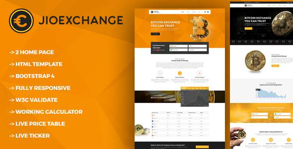 Jioexchange - Bitcoin & ICO Cryptocurrency HTML Template            TFx Gall Isi