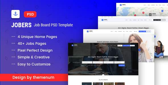 Jobers - Job Board PSD Template            TFx Reilly Trajan