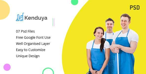 Kenduya-Cleaning Company PSD Template            TFx Haig Aqissiaq