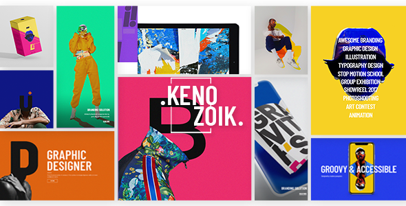 Kenozoik - A Vibrant Portfolio Theme for Creatives and Agencies            TFx Aubrey Noel