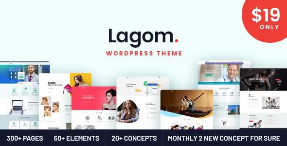 Lagom - Multi Concept MultiPurpose WordPress Theme            TFx Jaxx Emmanuel