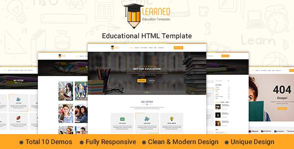 Learned – Education HTML Template            TFx Charlemagne Chase