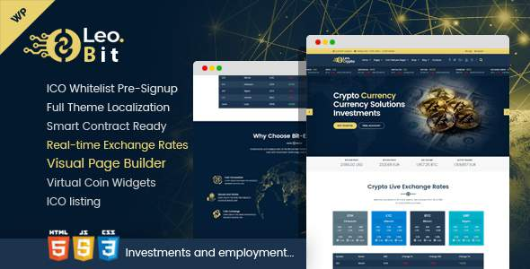 Leobit - Crypto Currency WordPress Theme            TFx Dion Wilford