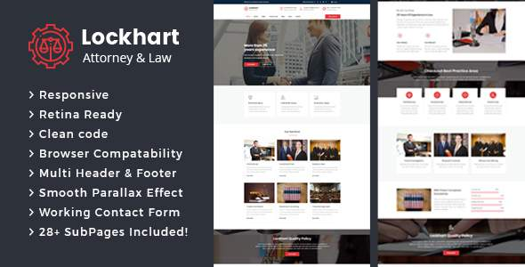 Lockhart - Lawyers Attorneys and Law Firm HTML Template            TFx Christian Casimir