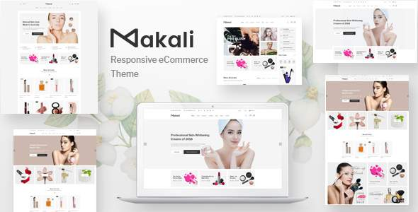 Makali - Cosmetics and Beauty eCommerce Bootstrap4 Template            TFx Benjamin Devin