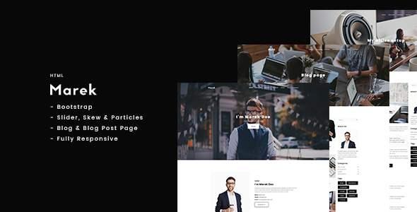 Marek - Personal Portfolio HTML            TFx Stepan Rob