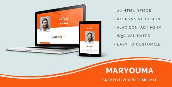 Maryouma - Creative vCard Template            TFx Braith Sinjin