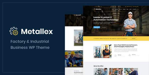 Metallex - Industrial And Engineering WordPress Theme            TFx Jewel Moses