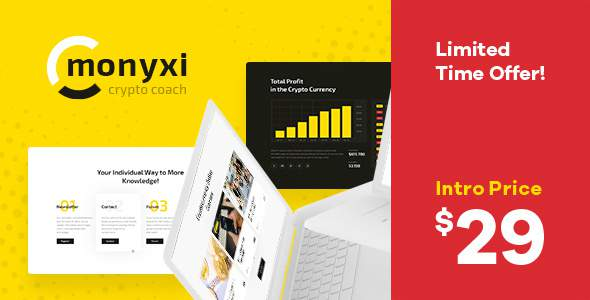 Monyxi | Cryptocurrency Trading Business Coach WordPress Theme            TFx Kegan Wiley