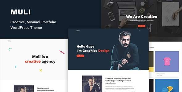 Muli - Creative, Minimal Portfolio WordPress Theme            TFx Jools Akira