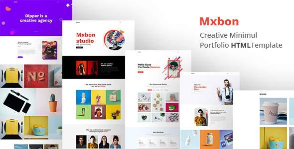 Mxbon - Minimal Portfolio Template            TFx Cole Cambyses