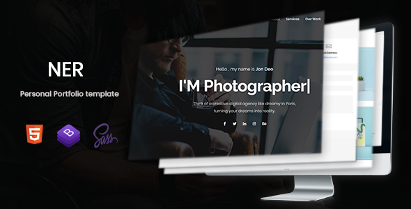 Ner - Personal Portfolio Template            TFx Basil Isadore