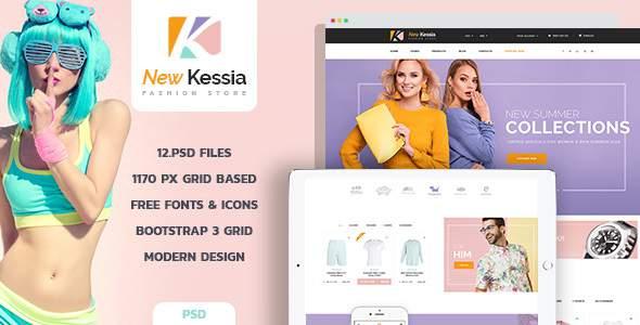 New Kessia - Fashion Shop PSD Template            TFx Lorrin Morris