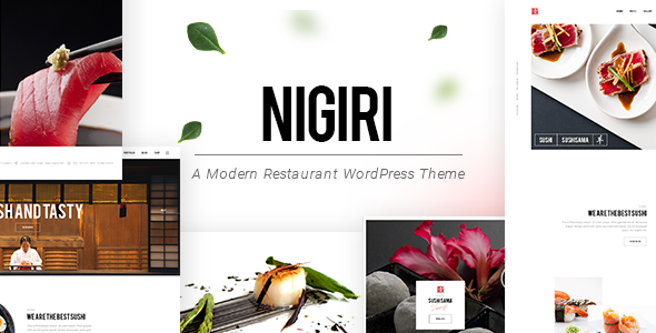 Nigiri - A Modern Restaurant WordPress Theme            TFx Carter Hiram