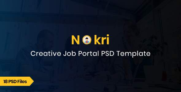 Nokri - Job Board PSD Template            TFx Emmanuel Made
