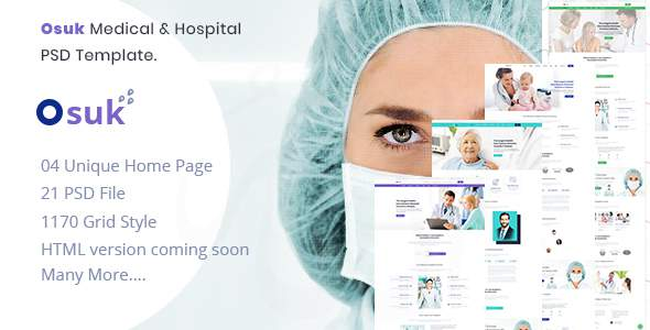 OSUK - Medical, Hospital, Doctor and Health care PSD Template            TFx Freddie Otto