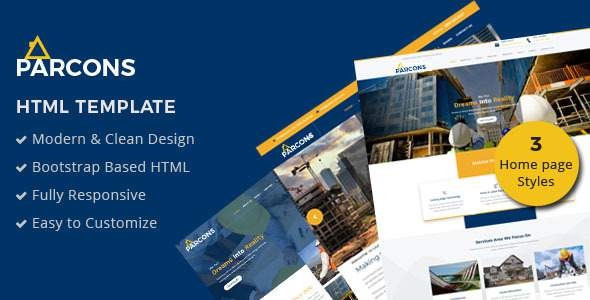 Parcons - Construction HTML Template            TFx Hasdrubal Smith