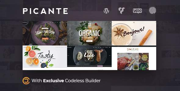 Picante - Restaurant & Food WordPress Theme            TFx Elihu Silver