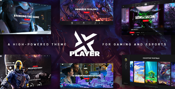 PlayerX - A High-powered Theme for Gaming and eSports            TFx Oscar Budi