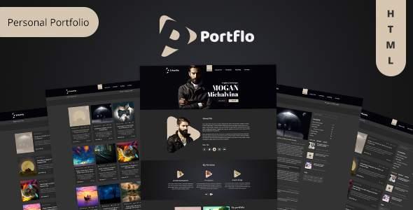 Portflo - Portfolio Landing Page HTML Template            TFx Melvyn Eko