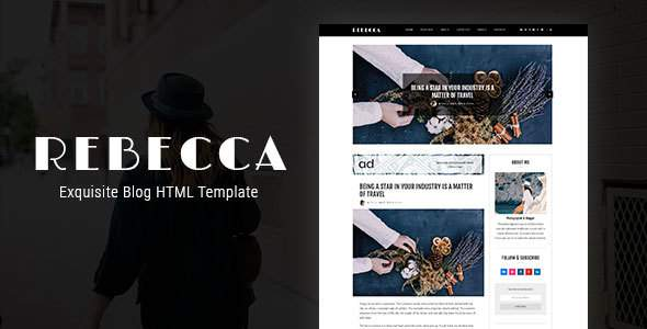 Rebecca's Blog – Exquisite Blog HTML Template            TFx Hardy Masaru