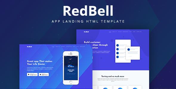 RedBell - Bootstrap 4 App Landing Template            TFx Marion Jirou