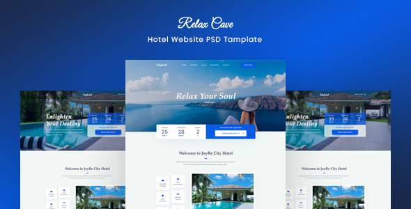 Relax Cave - Hotel Website Template            TFx Tyrone Rodge