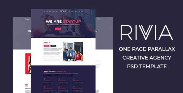 Rivvia One Page Parallax Creative Agency PSD Template            TFx Heath Dom