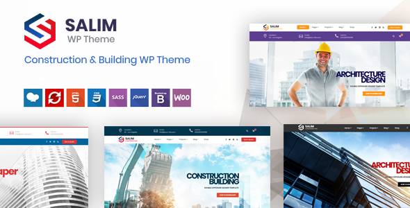 Salim - Construction and Building WordPress Theme            TFx Kerr Nelson