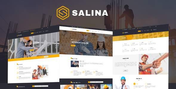 Salina – Construction Bootstrap 4 Template            TFx Napier Ahtahkakoop