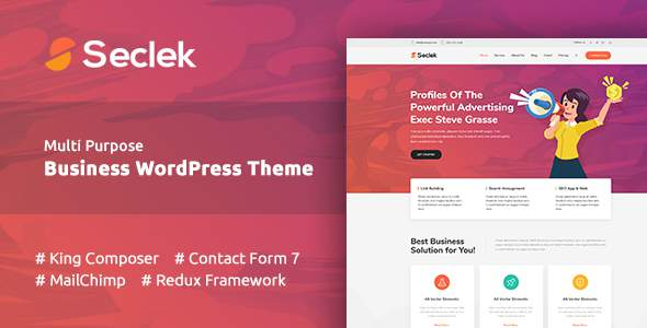Seclek - Multipurpose WordPress Theme            TFx Odin Avedis