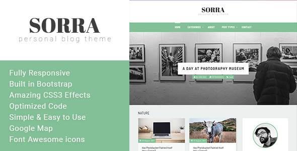 Sorra - Personal Blog HTML Template            TFx Jon Orson