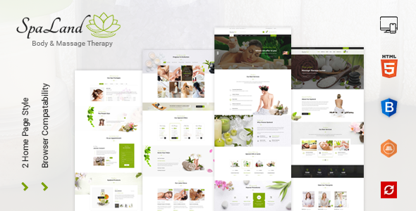 Spaland - Beauty Salon and Spa HTML Template            TFx Tex Finley