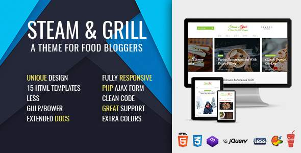 Steam & Grill - Responsive E-commerce Theme For Food Bloggers (now at version 2.0)            TFx Theodore Naiche