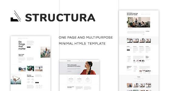 Structura - One Page Multipurpose Template            TFx Lothair Ichirou