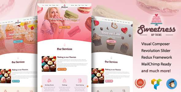 Sweetness - One Page WordPress Theme            TFx Saburou Rob