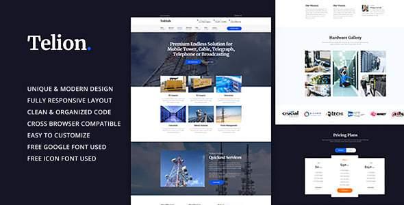 Telion - Telecommunication Business HTML Template            TFx Taegan Rufus