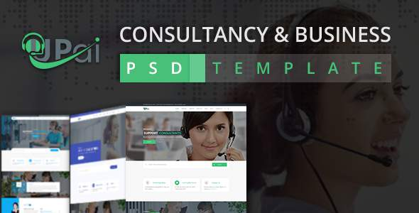 Upai - Consultancy and Business PSD Template            TFx Vivian Makoto
