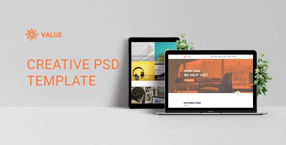 Value - Creative Corporate PSD Template            TFx Denton Nazaret