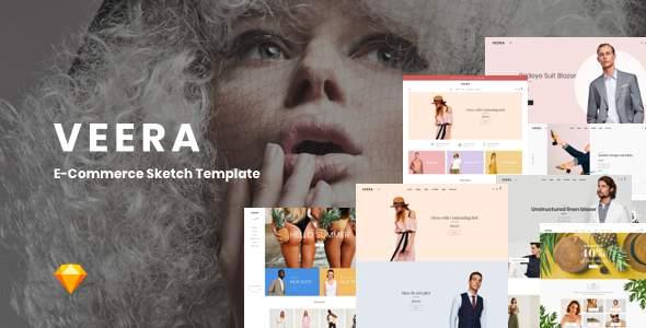Veera - Multipurpose eCommerce Sketch Templates            TFx Ibrahim Terrell