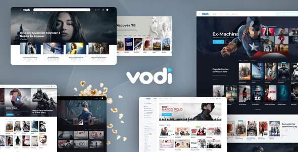 Vodi - Video Streaming and Magazine PSD Template            TFx Kole Elwyn