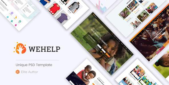 WeHelp - Nonprofit Charity Fundraising PSD Template            TFx Susila Brand