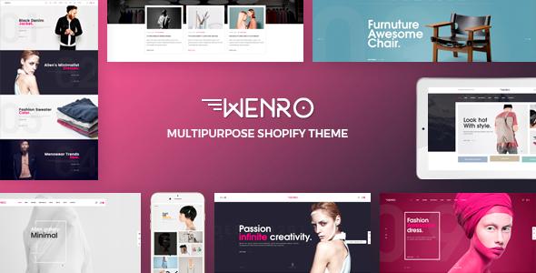 Wenro – Multipurpose Shopify Theme            TFx Ivan Justin