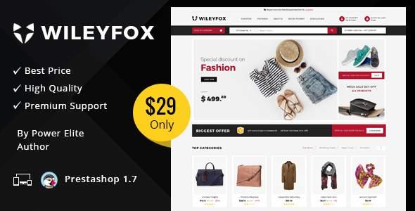 Wileyfox Mega - Responsive Prestashop 1.7.x Theme            TFx Rudyard Raja