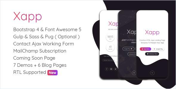 Xapp - HTML App Landing Page Template            TFx Cedric Youta